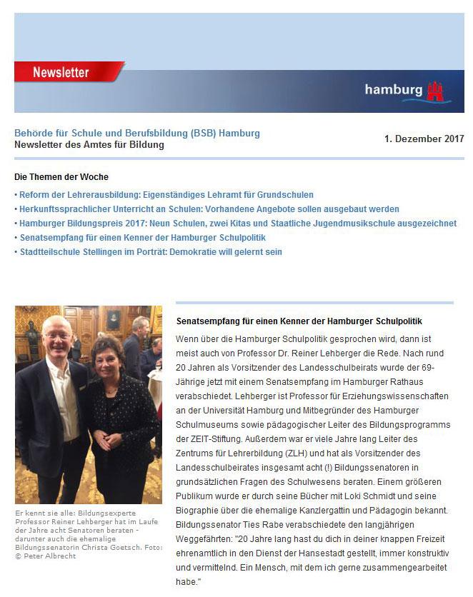Prof Dr Reiner Lehberger Personen Universität Hamburg